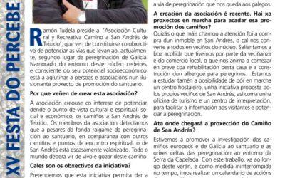 """La revista de """"XV festa do Percebe"""" de Cedeira habla con el presidente de nuestra Asociación"""