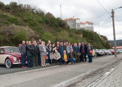 Foto de familia en el exterior del Museo Mares de Cedeira
