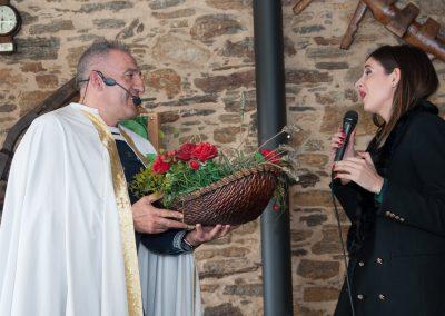 Queiman e Pousa representan unha alegoria sobre a historia de Santo André de Teixido