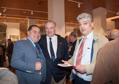 De izq. a der. Ramón Tudela, Ángel Jove e Manuel Arenas