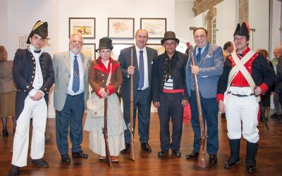 Membros da Fundación Santo André de Teixido participan na exposición homenaje do Almirante Miguel A. Fernandez