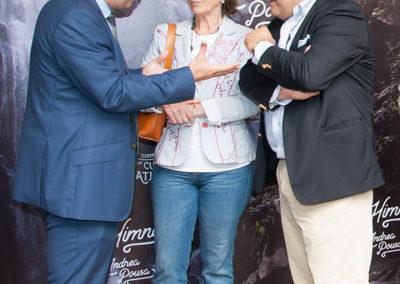 Valentín García Gómez, Secretario Xeral de Política Lingüistica; Blanca García–Señoráns, Directora Xeral de Relacións Institucionais e Ramón Tudela, presidente da Fundación Santo André de Teixido.
