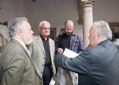 Pedro X. Blanco, vicepresidente da Fundación Santo André de Teixido xunto a D. Víctor F. Freixanes; presidente da Real Academia Galega e D. Xesús Alonso Montero(,) expresidente da Real Academia Galega (2013–2017).